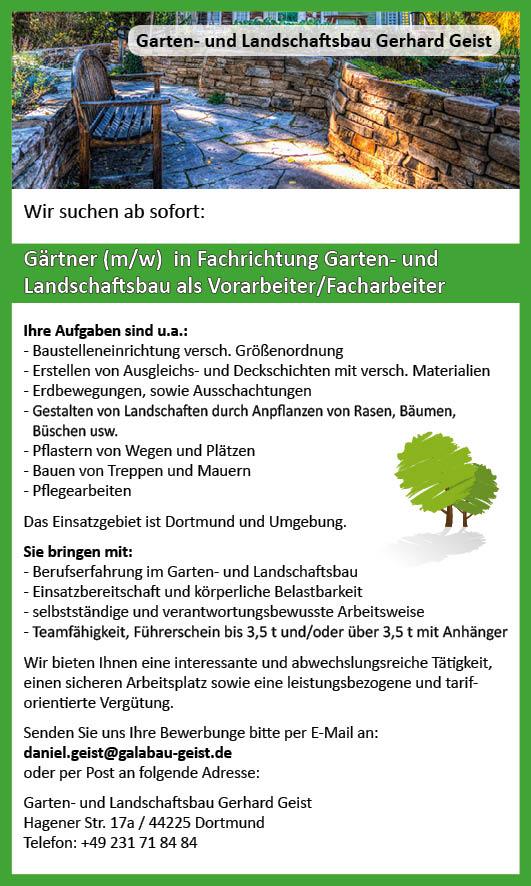 Gartenbau Dortmund stellenangebote